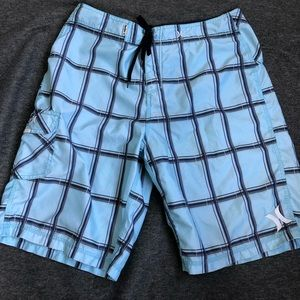 Hurley board shorts. Blue/black. Size 33.